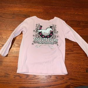 Too cute to cry longsleeve